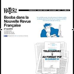 Booba dans la Nouvelle Revue Française