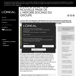 Share & Care : Une nouvelle page de l'histoire sociale du groupe - Partager notre croissance