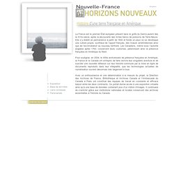 Nouvelle-France - Horizons Nouveaux