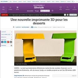 Une nouvelle imprimante 3D pour les desserts