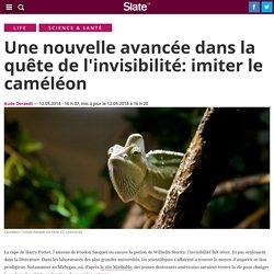 Une nouvelle avancée dans la quête de l'invisibilité: imiter le caméléon