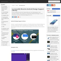 La nouvelle librairie Android Design Support Library
