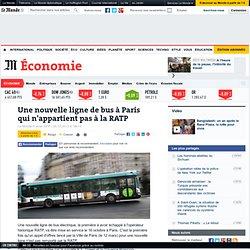 Une nouvelle ligne de bus à Paris qui n'appartient pas à la RATP