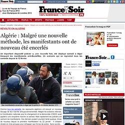 Algérie : Malgré une nouvelle méthode, les manifestants ont de nouveau été encerlés