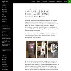 La nouvelle borne McDonald's France