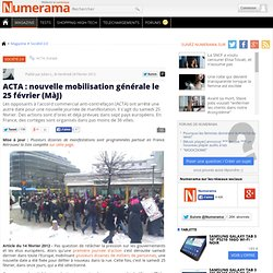 ACTA : nouvelle mobilisation générale le 25 février