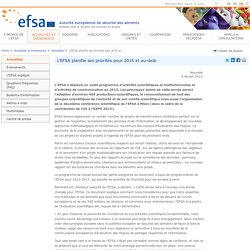 EFSA 04/02/15 EFSA maps out priorities for 2015 and beyond