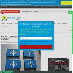 Nouvelle politique d'immigration du Québec