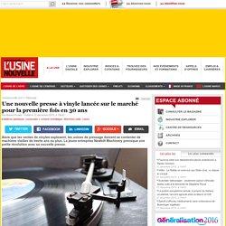 Une nouvelle presse à vinyle lancée sur le marché pour la première fois en 30 ans - Plasturgie