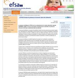 L'EFSA évalue la présence d'arsenic dans les aliments