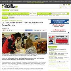La nouvelle dictée fait ses preuves en Deux-Sèvres - 14/03/2015