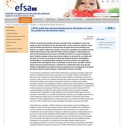 EFSA 31/07/13 L'EFSA publie des principes directeurs pour des études sur deux ans portant sur des aliments entiers