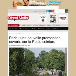 Paris : une nouvelle promenade ouverte sur la Petite ceinture
