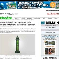 Grâce à des algues, cette nouvelle colonne Morris va purifier l'air parisien