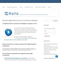 Nouvelle réglementation belge pour l'e-commerce