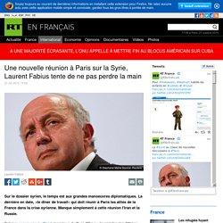 """Réunion à Paris"""" les alliés de la France"""" dans la crise syrienne. Manque simplement à cette réunion l'Iran et la Russie."""