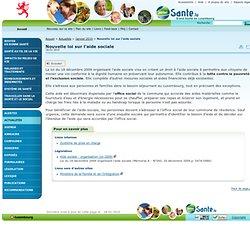 Nouvelle loi sur l'aide sociale - Portail Santé // Grand-Duché de Luxembourg - Janvier 2010