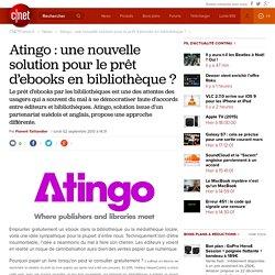 Atingo : une nouvelle solution pour le prêt d'ebooks en bibliothèque ?