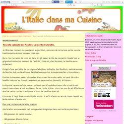 Nouvelle spécialité des Pouilles: La recette des tarallini.