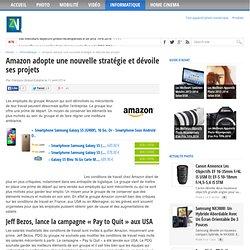 Nouvelles orientations et stratégies du groupe Amazon