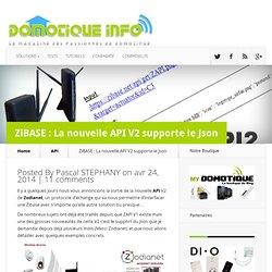 ZiBASE : La nouvelle API V2 supporte le Json