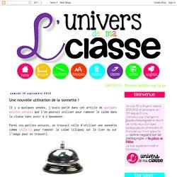 L'univers de ma classe: Une nouvelle utilisation de la sonnette !