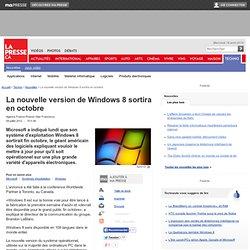 La nouvelle version de Windows 8 sortira en octobre
