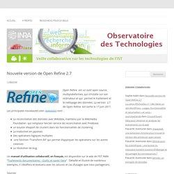 Nouvelle version de Open Refine 2.7