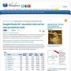 Google Panda UK : nouvelles stats sur les sites perdant du trafic