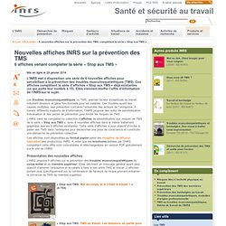 Nouvelles affiches INRS sur la prévention des TMS