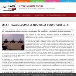 ESS et travail social : de nouvelles convergences ... Catalogue en ligne