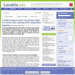 L'Anah propose deux nouvelles aides en faveur des copropriétés dégradées - 07/10/16