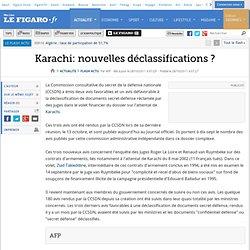 Karachi: nouvelles déclassifications ?