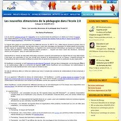 Les nouvelles dimensions de la pédagogie dans l'école 2.0