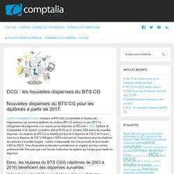 Nouvelles dispenses du BTS CG sur le DCG