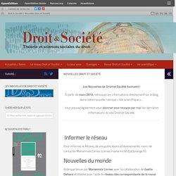 Nouvelles Droit et Société – Droit & Société