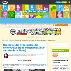 Meetup : nouvelles écritures numériques au Labo de l'Edition