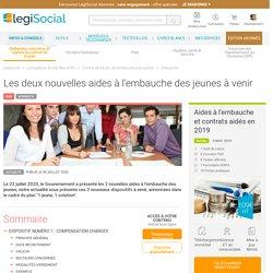 Les deux nouvelles aides à l'embauche des jeunes à venir LégiSocial