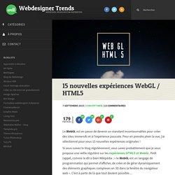 15 nouvelles expériences WebGL / HTML5