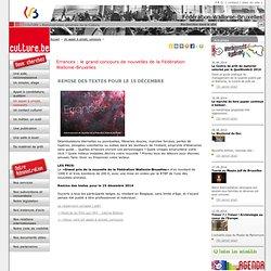 Errances : le grand concours de nouvelles de la Fédération Wallonie-Bruxelles-Détail