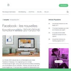 Facebook : les nouvelles fonctionnalités 2015/2016 - Wix.com