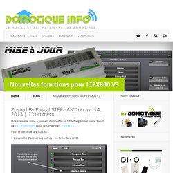 Nouvelles fonctions pour l'IPX800 V3