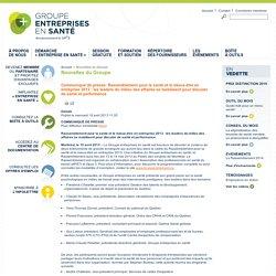 Nouvelles du Groupe - Groupe entreprises en santé