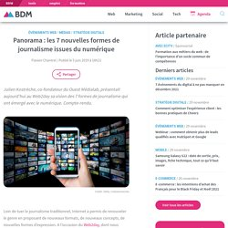 Panorama : les 7 nouvelles formes de journalisme issues du numérique