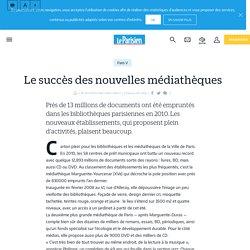 Le succès des nouvelles médiathèques - Le Parisien