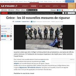 Conjoncture : Grèce : les 10 nouvelles mesures de rigueur