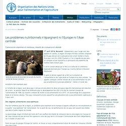 FAO Les problèmes nutritionnels n'épargnent ni l'Europe ni l'Asie centrale