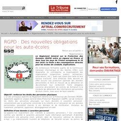 RGPD : Des nouvelles obligations pour les auto-écoles