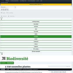 1730 nouvelles plantes découvertes en2016