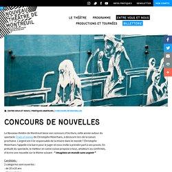 Concours de nouvelles - Pratiques amateurs - Nouveau Théâtre de Montreuil